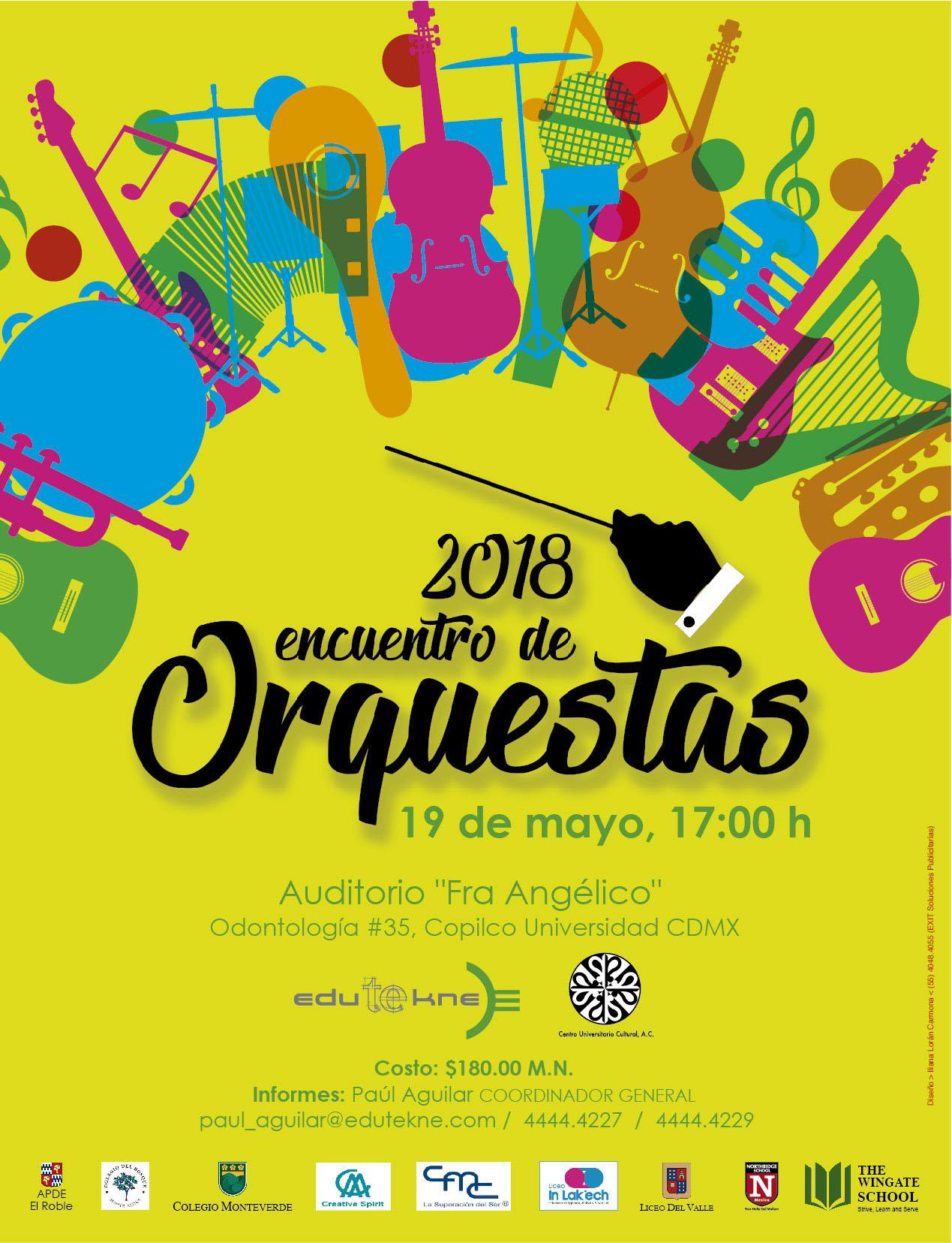 Cartel orquestas 2018
