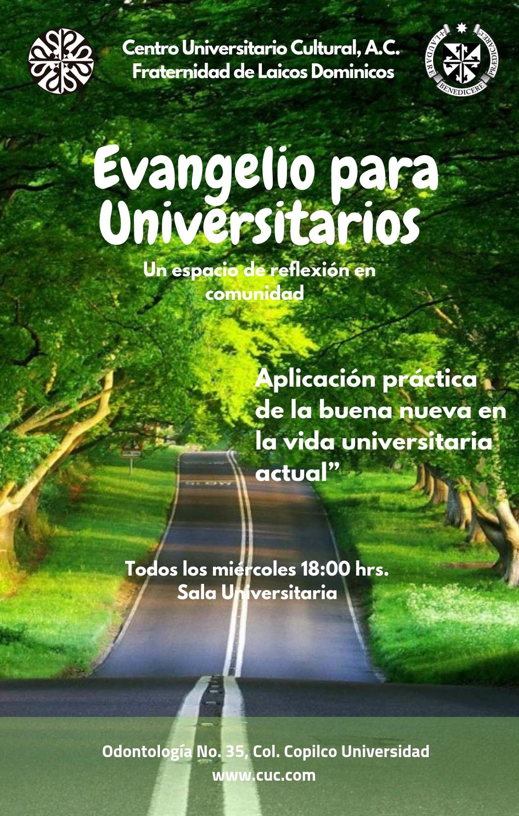 Cartel Evangelio para Universitarios