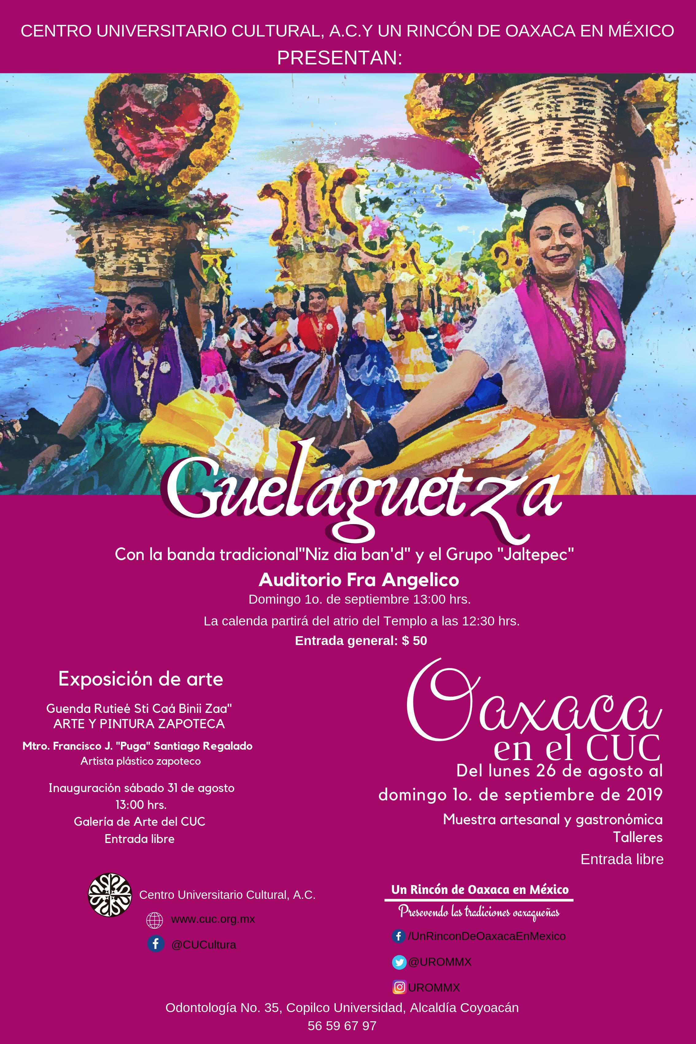Cartel Guelaguetza para impresión