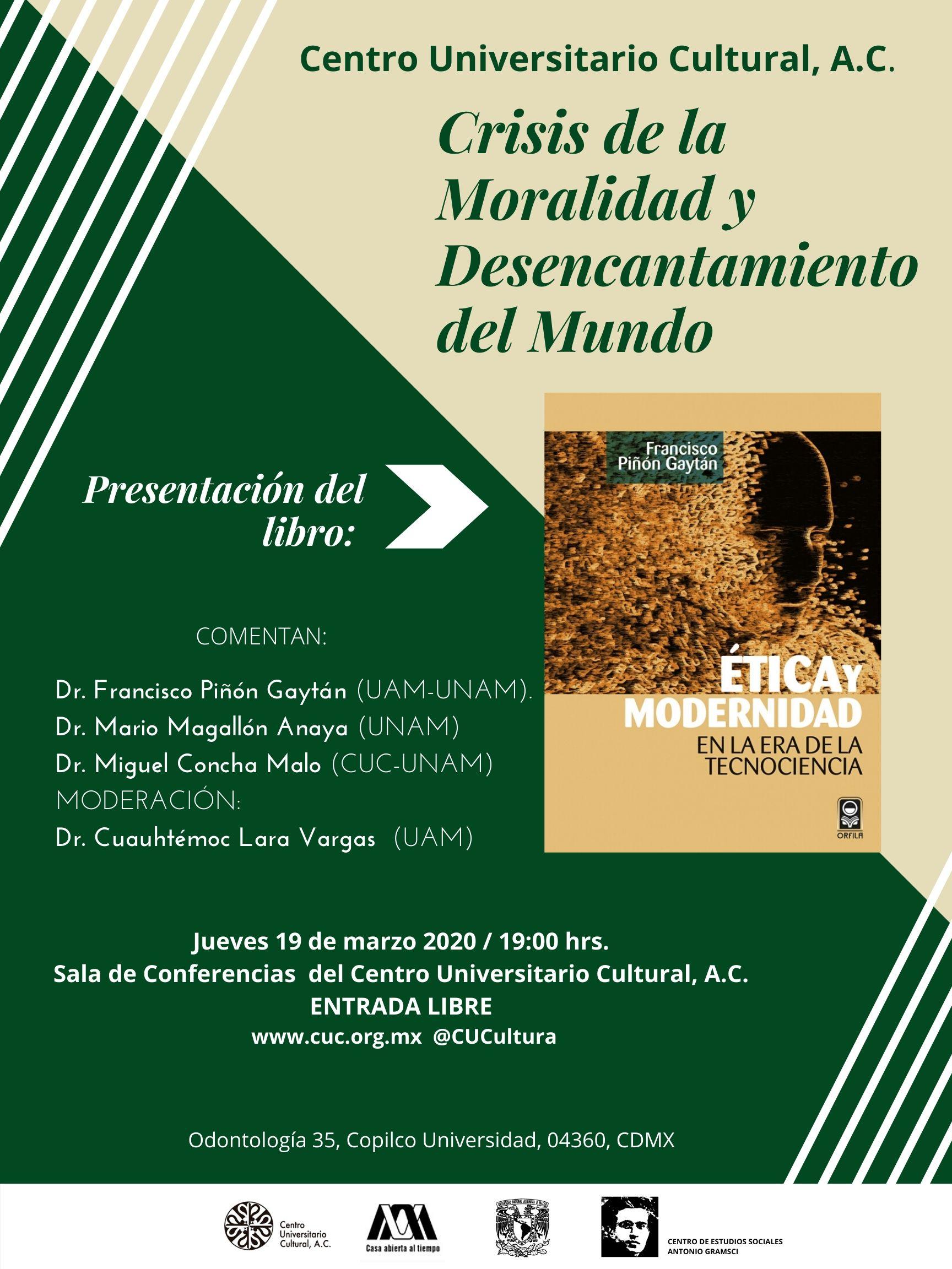 Presentación del libro Ética y Modernidad final