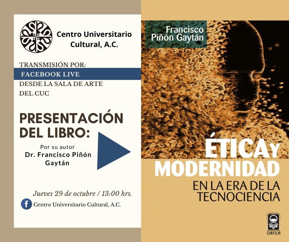 invitación facebook ëtica y Modernidad